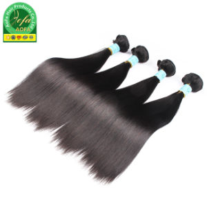 Guangzhou Supplier Mongolian Virgin Human Hair Natural Black Hair pictures & photos