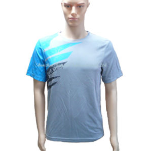 Grey Dry Fit Mesh Sports T-Shirt for Men pictures & photos