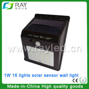 0.49W Motion Outdoor LED Solar Wall Light