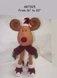 Fleece Standing Moose Christmas Decoration Gift Craft-2asst. pictures & photos