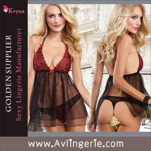High Quality European Women Sexy Lingerie Babydoll Lingerie (KLB1-155)