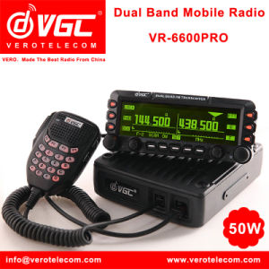 Professional VHF/UHF FM Tranmitter 50W Vehicle Mounted Transceiver Vero  Vr-6600PRO