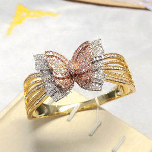 Fashion Dubai Gold Plated Jewelry Bracelet Wholesale Butterfly Shaped Bangle Bracelet