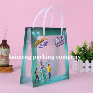 Panton Color Printed PVC Plastic Packaging Bags Folding Design with Handle