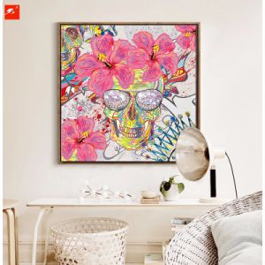 Skull Canvas Wall Art Print Oil Painting