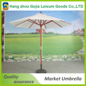 Wooden Waterproof Convenient Easy up Straight Market Umbrellas