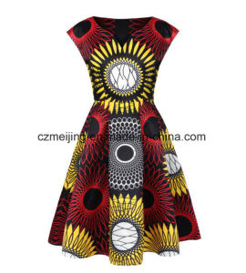 Printed Women`S V-Neck Dress