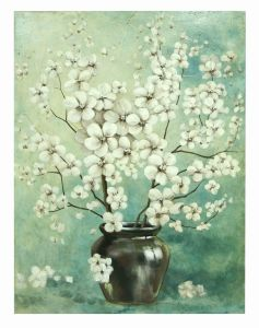 Hand-Painted Abstract Plum Blossom Flower Oil Painting on Canv Home Decor Art pictures & photos