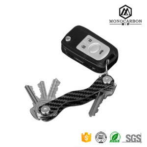 Euramerican Style Brand New Slim Carbon Fiber Key Ring Double-Deck Key Organizer for Wholesale pictures & photos