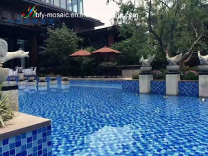 Marble Mosaic, Ceramic Mosaic Tile Crystal Glass Mosaic for Swimming Pool Tile (FYSN058EX)