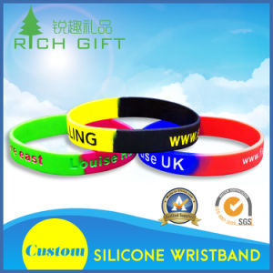 Manufacturer Custom Fashion Debossed Silicon Silicone Rubber Wristband Bracelet for Promotional Gift pictures & photos