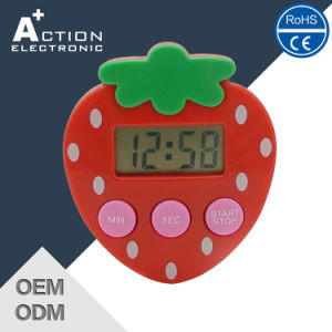 Digital Strawberry Shape Count Down Kitchen Timer pictures & photos