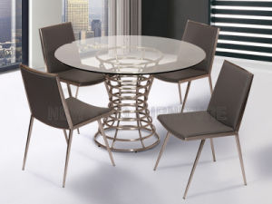 Modern Glass Upscale Dining Room Dubai Table Chairs NK DTB070