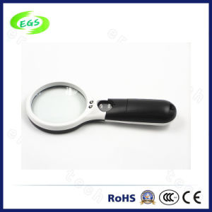 Transparent Mini Magnifier LED Light Magnifier Handheld Magnifier in High Quality pictures & photos