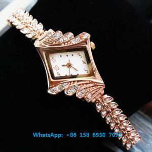 Graceful Pretty Quartz Watch with Alloy Band for Women Fs569