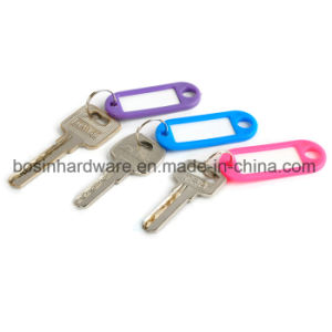Plastic Key Tag with Split Ring