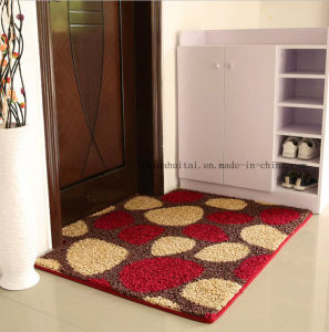 Fancy Red Flower Design PP Material TPR Base Floor Carpet