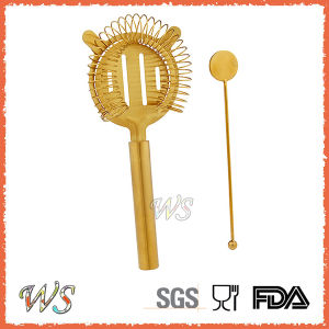 Ws-St01 Gold Color Stainless Steel Strainer Set
