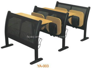 Steel Construction School Chair with Fixed Table (YA-003) pictures & photos