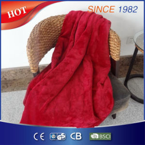 Flannel Electric Over Blanket Heated Throw for Keeping Warm pictures & photos