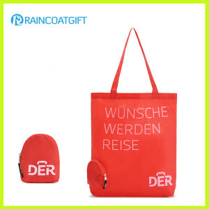 Custom Logo Printed Nylon Shopper Handbag with Folding Pouch pictures & photos