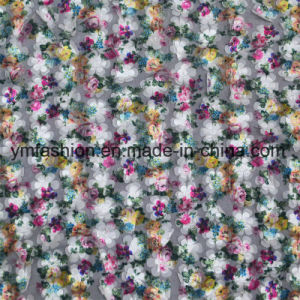 Double Colors 100% Polyester Lace Fabric Garment Accessorie for Dress 0006 pictures & photos