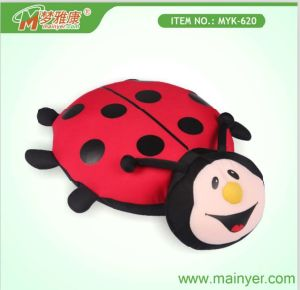 Cute Ladybug-Shape Microbeads Cushion