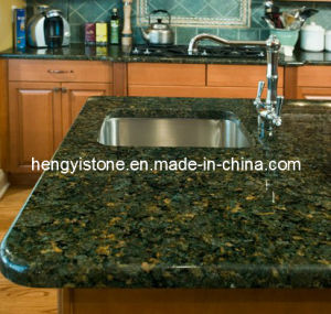 China Butterfly Green Granite Kitchen Top Natural Stone Countertop