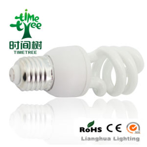 Half Spiral T3 7W 8000h Tri-Phosphor Compact Fluorescent Energy Saving CFL Bulb (CFLHST38kh) pictures & photos
