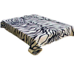 Hot Sale 100% Polyester Raschel Blanket Sr-B170305-17 Soft Printed Mink Blanket