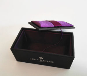 Exquisite Small Black Cufflinks Box (JB-019) pictures & photos