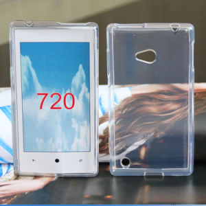 Fashion Clear Plain Rubber Soft TPU Mobile Phone Case for Nokia 720