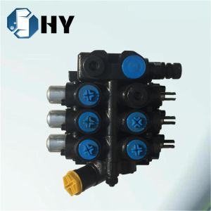 3 sections spool Hydraulic valve Mobile control valve