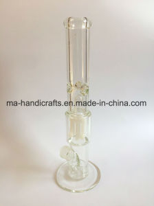 16 Inch Straight Glass Water Pipes with Milky White Percolator pictures & photos