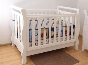 Wooden Baby Cot Crib In White For Australia