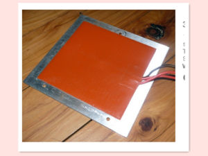 24V 600W 350*350*1.5mm 2mm Aluminum Plate Silicone 3D Printer Heater