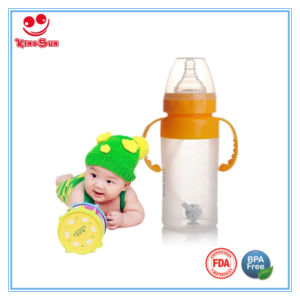Wide Neck Nursing Silicone Baby Bottle 150ml/240ml pictures & photos