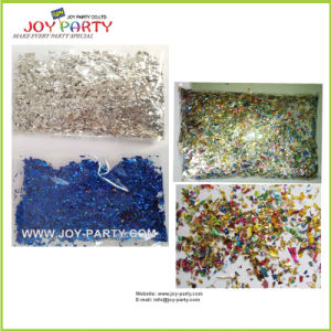 Colorful Shredded Metallic Foil Confetti for Party Popper Fillings