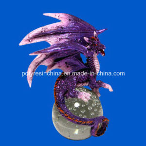 Resin Dragon with Crystal Ball pictures & photos