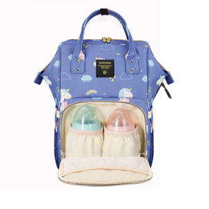 New Style Stylish PU Leather Multi-function Baby Nappy Changing Bag Backpack