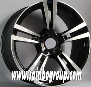 14 Inch 4X100 Black Machine Face Car Alloy Wheel pictures & photos