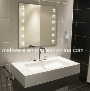 Square Modern LED Illuminated Bathroom Sliver Mirror