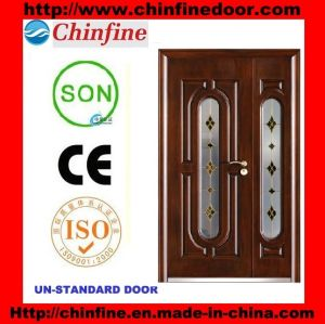 2017 New Design Steel Security Doors (CF-1911G) pictures & photos