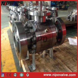 Forged Stainless Steel Trunnion Mounted Flanged Ball Valve pictures & photos