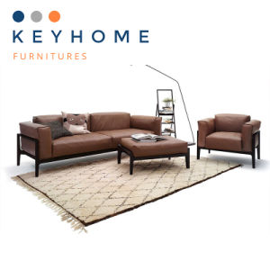 New Brown Genuine Leather Sofa Sectional