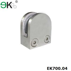 Stainless Steel Handrail Glass Panel Clamp for Square Tube