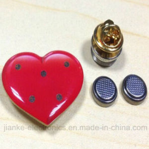 LED Flashing Heart Button Wih Customized Design (3161)