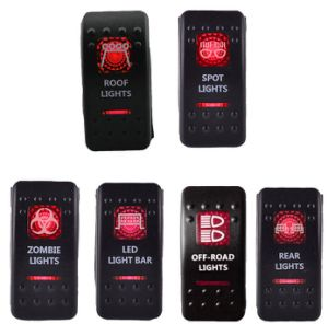 Bar Zombie Red Color Rocker Switch Dual LED Light Car/Boat/Truck Rocker Switch pictures & photos