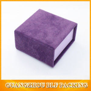 Small Cardboard Velvet Ring Box (BLF-GB515) pictures & photos