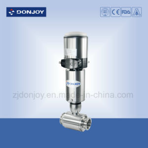 Ss 304/316L Pneumatic Direct-Way Ball Valve with Automatic Positioner pictures & photos